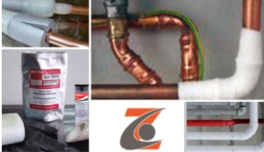 Reparaturbänder für Risse in Rohrleitungen